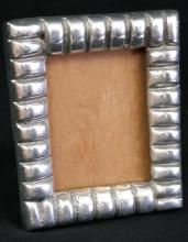 vintage pewter silver plated picture frame