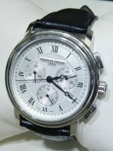 FREDERIQUE CONSTANT GENEVE MENS LARGE SIZE SS WATCH