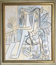 Latin American Cuban Art by Lam dated 1945