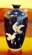 Antique enamel painted Flower Vase