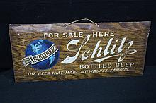Pre Pro Schlitz Bottled Beer Tin Sign