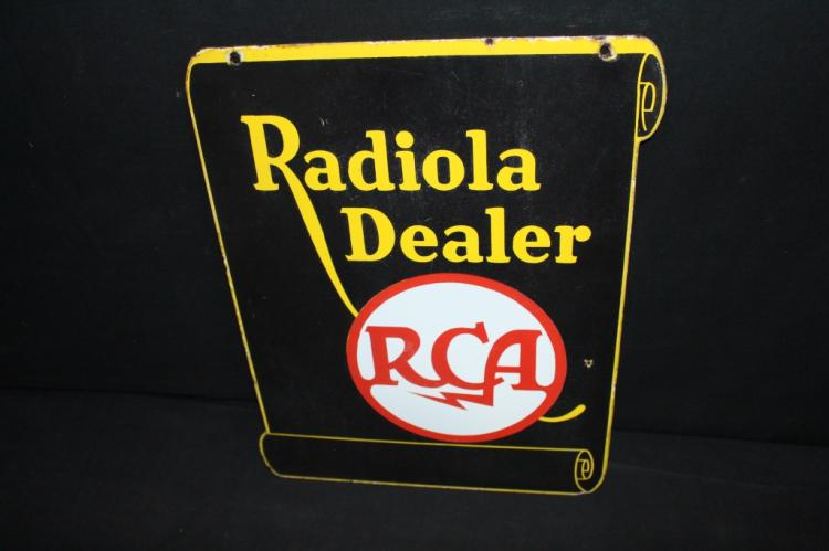 Porcelain RCA Radiola Dealer Sign