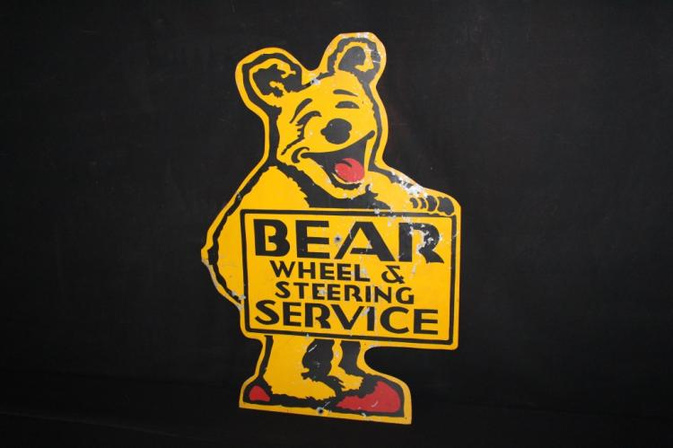 Bear Wheel Steering Service Alignment Sign