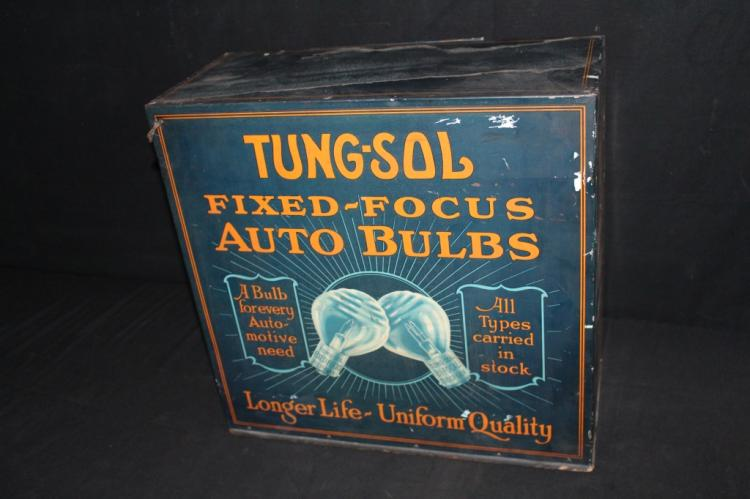Tung Sol Auto Bulbs Counter Display Cabinet Sign