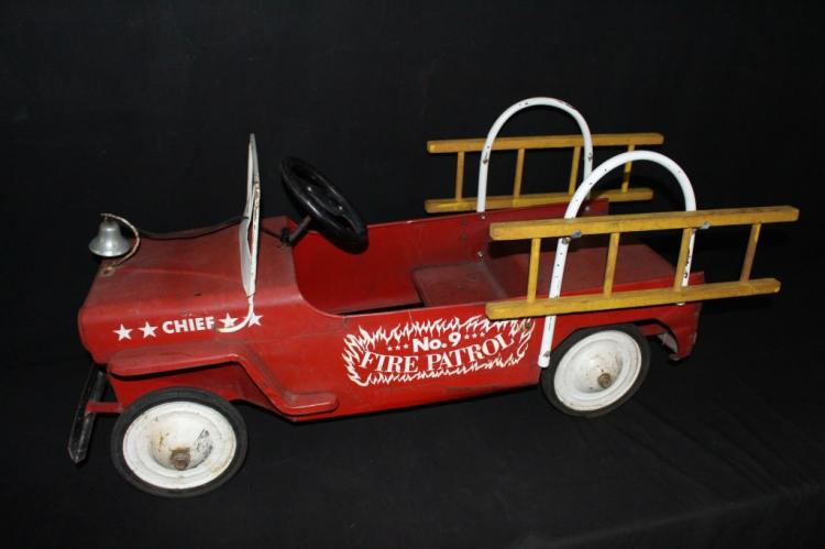 Hamilton Jeep No 9 Fire Patrol Chief Pedal Car