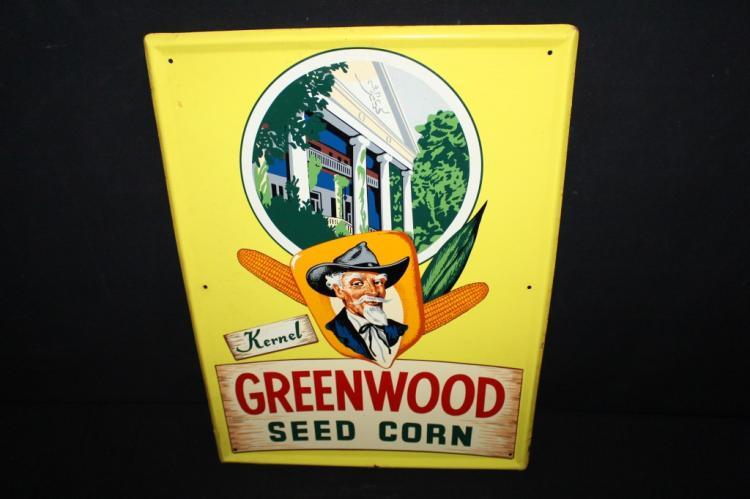 Kernel Greenwood Hybrid Seed Corn Tin Sign