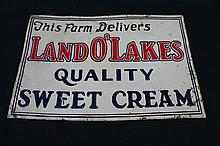 This Farm Delivers Land O Lakes Quality Sweet Cream Tin Farm Sign