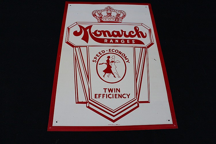NOS Monarch Cooking Ranges Tin Sign