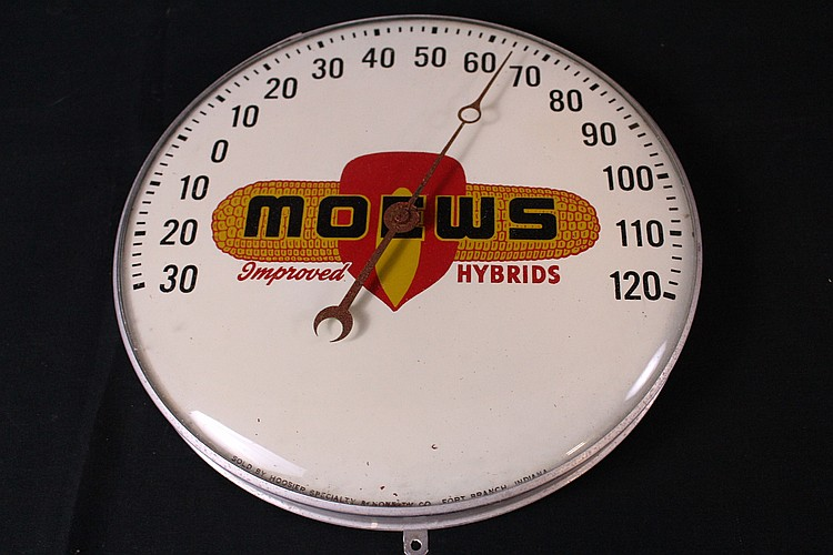 Moews Hybrid Seed Corn Thermometer Sign