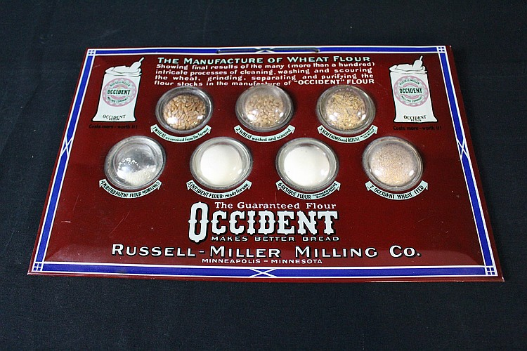 NOS Russell Miller Milling Co Minneapolis MN Occident Flour Sign