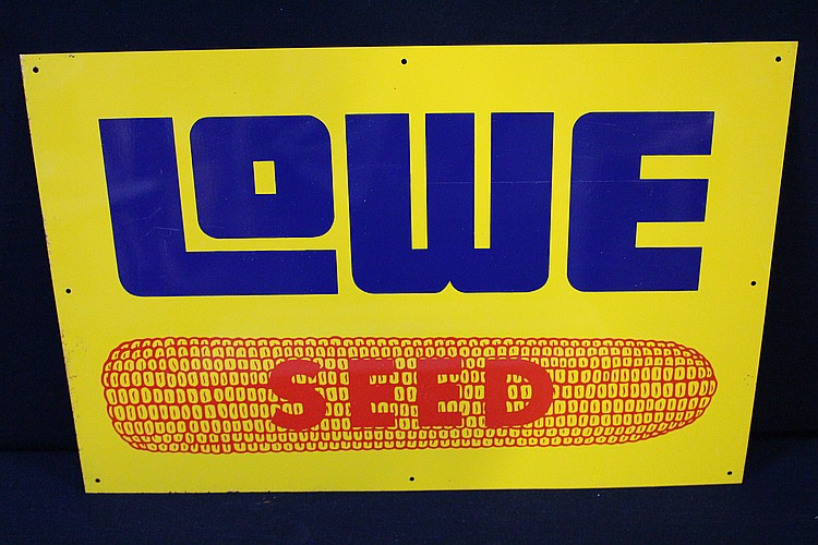 Lowe Hybrid Seed Corn Tin Sign