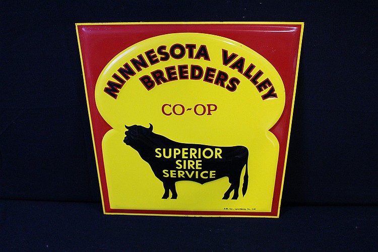 NOS Minnesota Vallery Breeders Coop Superior Sire Service Tin Sign