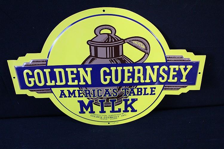 NOS Golden Guernsey America's Table Milk Dairy Sign