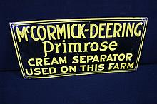 McCormick Deering Primrose Cream Separator Tin Farm Sign