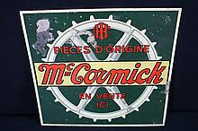 International Harvester McCormick Deering Farm Machinery Tin Sign