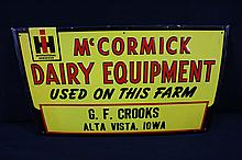 International Harvester McCormick Deering Sign Alta Vista Iowa