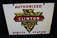 Authorized Service Station Clinton Engines Tin Sign