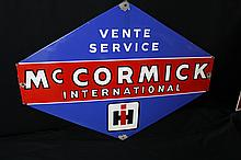 Porcelain International Harvester McCormick Deering Sign