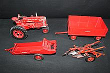 International Harvester McCormick Deering Farm Toy Set Tractor