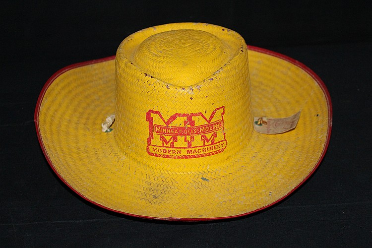 Minneapolis Moline Farm Machinery Advertising Straw Hat