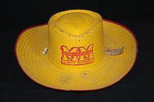Minneapolis Moline Farm Machinery Advertising Straw Hat