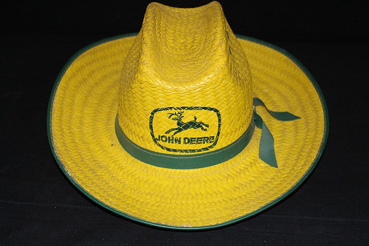 John Deere Farm Machinery Advertising Straw Cowboy Hat