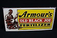 Rare Sign Armours Old Black Joe Fertilizer Farm Dairy