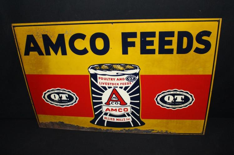 Allied Mills AMCO Poultry & Livestock Feed Sign