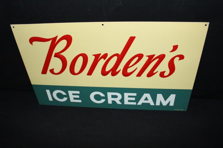 NOS Bordens Dairy Ice Cream Sign