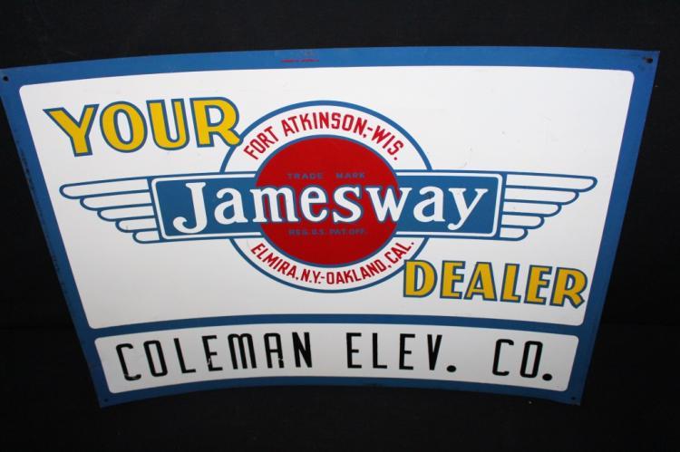 Jamesway Farm Equipment Coleman WI Tin Sign