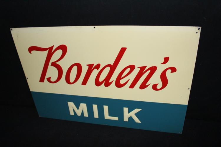 Bordens Dairy Milk Sign