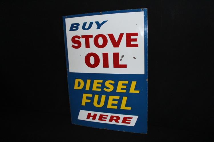 Porcelain Gas Station Stove Oil Diesel Fuel Sign