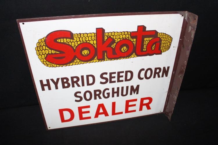 Sokota Hybrid Seed Corn Sorghum Farm Flange Sign