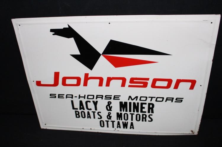 Johnson Sea Horse Outboard Motors Tin Sign