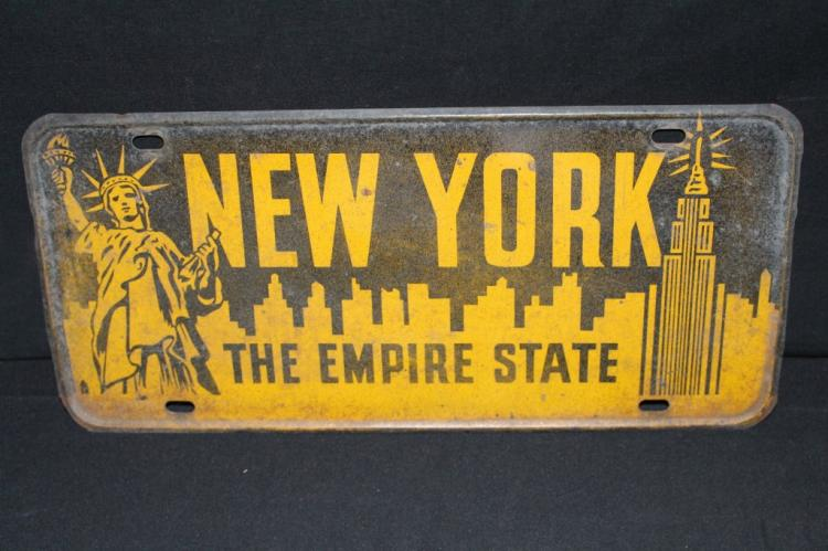 New York City Empire State License Plate Topper