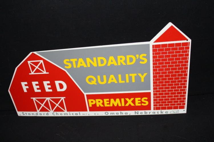 Standard Quality Feeds Tin Farm Barn Sign Omaha