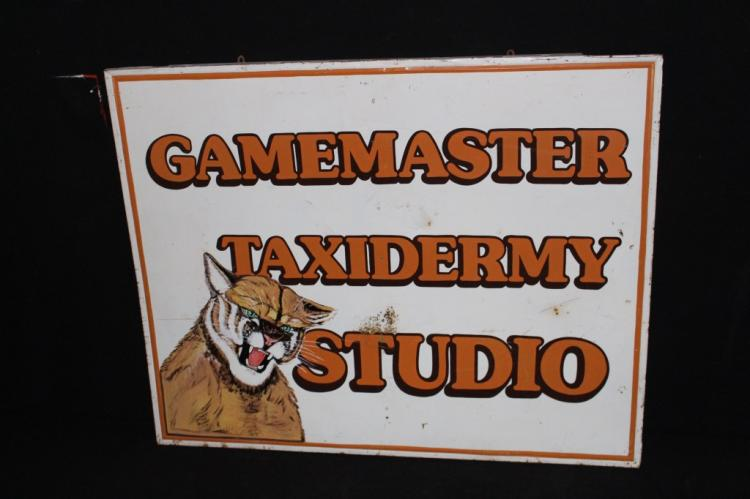 Gamemaster Taxidermy Studio Tin Sign