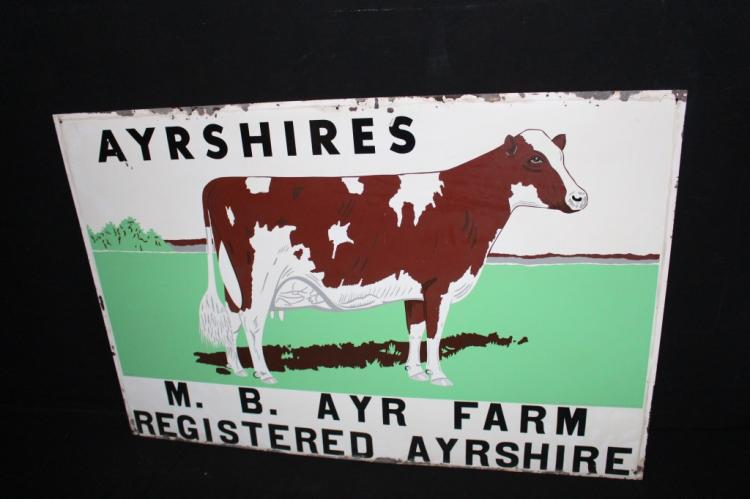 Registered Ayrshires Dairy Cattle Cow Farm Sign