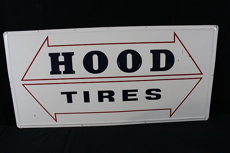 Hood Tires Service Station Tin Sign