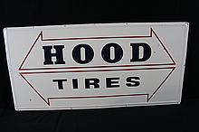 Hood Tires Service Station Tin Sign