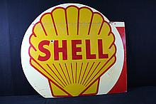 Large Shell Gas Station Billboard Sign