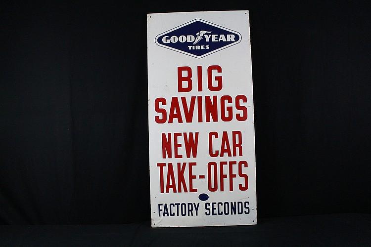 Big Savings Good Year Tires Tin Sign