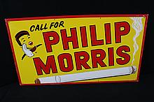 Call For Phillip Morris Cigarettes Tin Sign Large Size