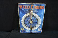 Weed Baloon Tire Chains Rotating Size Chart Sign