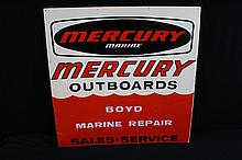 Mercury Outboard Motor Sign Boyd Marine Repair