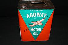 Aroway Consumers Petroleum Indianapolis Jet Airplane Oil Can 2 Gal Sign