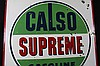 Porcelain Calso Supreme Gasoline Sign Double Sided