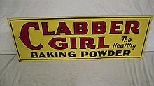 CLABBER GIRL BAKING POWDER SIGN
