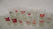 13 VINTAGE MILLER HIGH LIFE BEER GLASSES