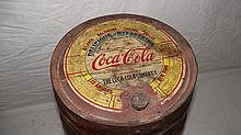 5 GAL COCA COLA WOOD SYRUP BARREL WITH ORIGINAL PAPER LABEL